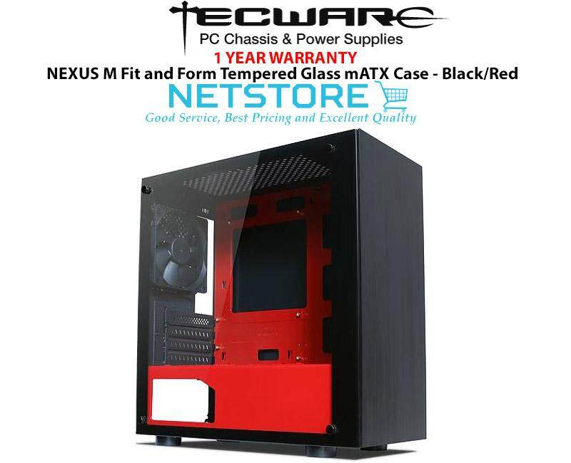 Tecware NEXUS M Fit and Form Tempered Glass mATX Case - Black/Red Malaysia