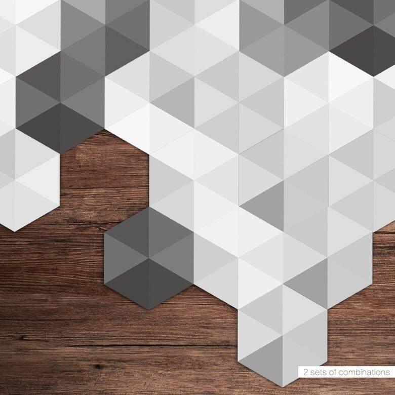 HORI Creative Bedroom Floor Stickers PVC Wall Sticker Background Wallpaper