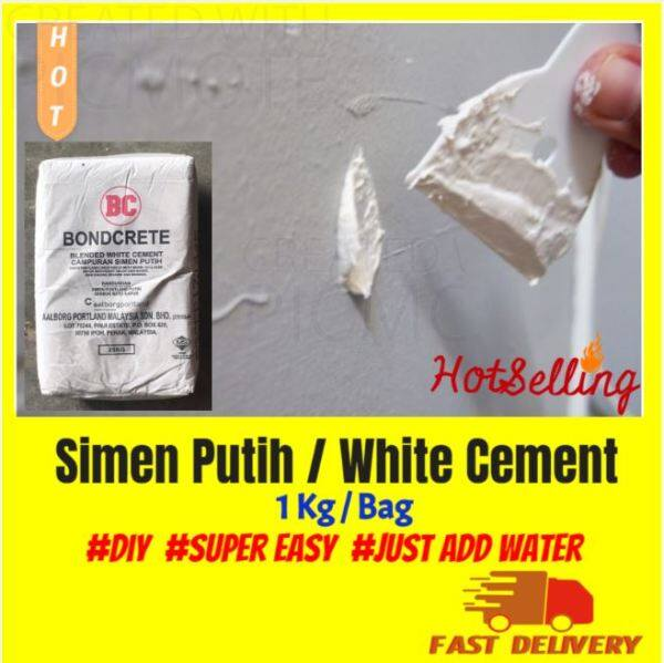 1KG Simen Putih / White cement / Gypsum Powder 白灰 / Plaster Wall / Plaster Ceiling / Small Gap Filling [Cosmetic REPAIR ONLY] [READY STOCK}