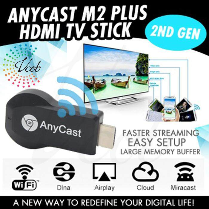 VCOB Anycast M2 plus Wireless HDMI Media Video Wi-Fi 1080P Display Dongle  Receiver Android adapter TV Stick DLNA Airplay Miracast