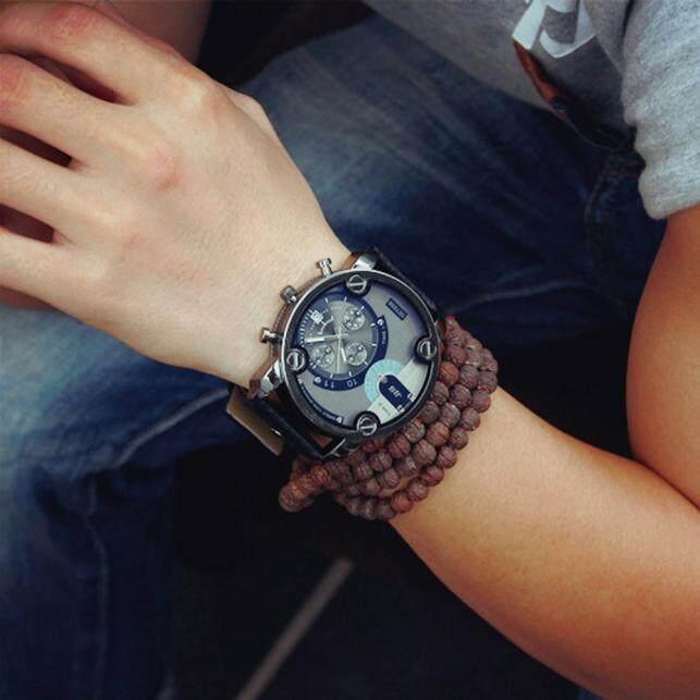 BPFAIR Fashion Casual Men Leather Quartz Analog Wrist Watch Watches Free shipping Malaysia