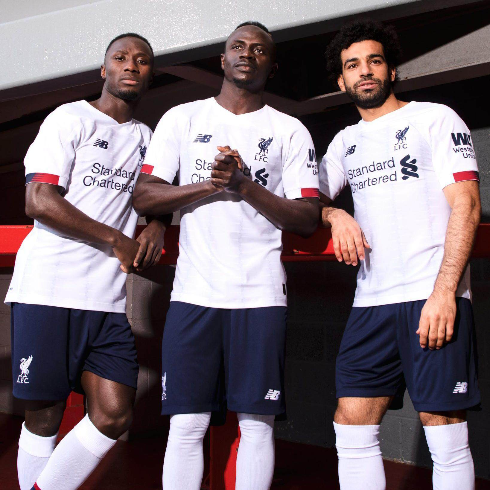 the latest 8eff9 d3e14 [New Arrivals]2019/20 Premier League LiverpoolAway Team Kit home new season  short-sleeve jersey Salah Away Kit