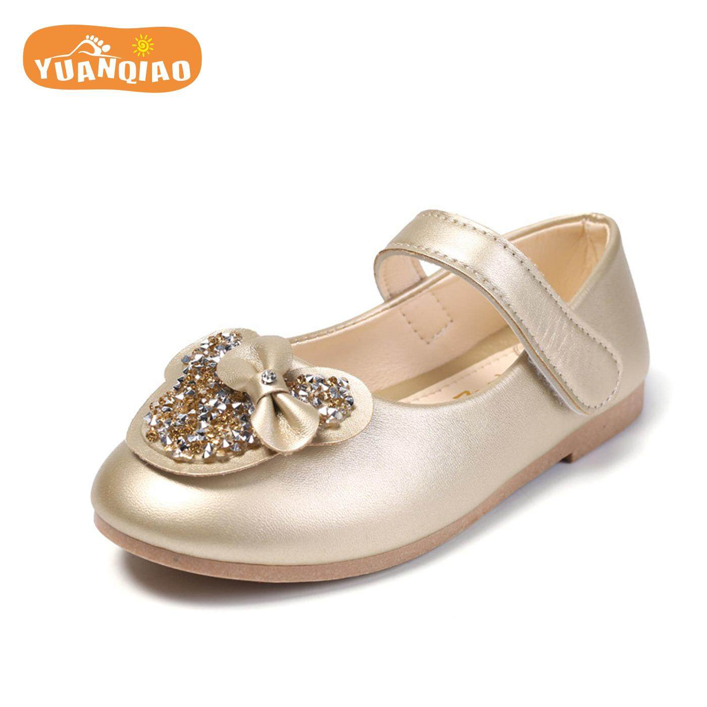 75ae37ce964c YUANQIAO Girls Leather Shoes Lovely Princess Shoes Girls Sandals Children  Shoes Kids Sandals 2 3 4
