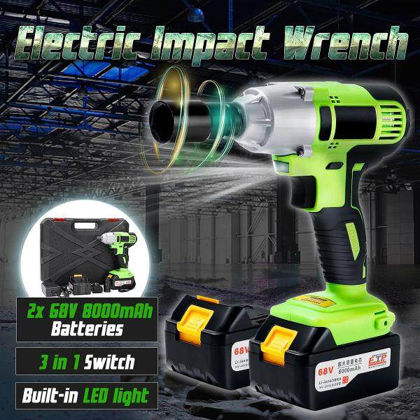 【Free Shipping】68V Cordless Screwdriver Lithium-Ion Electric Impact Wrench Brushless Motor