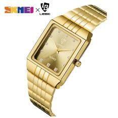 Đồng hồ vàng siêu mỏng sang trọng dành cho nữ chất liệu thép không gỉ SKMEI chống nước 8808