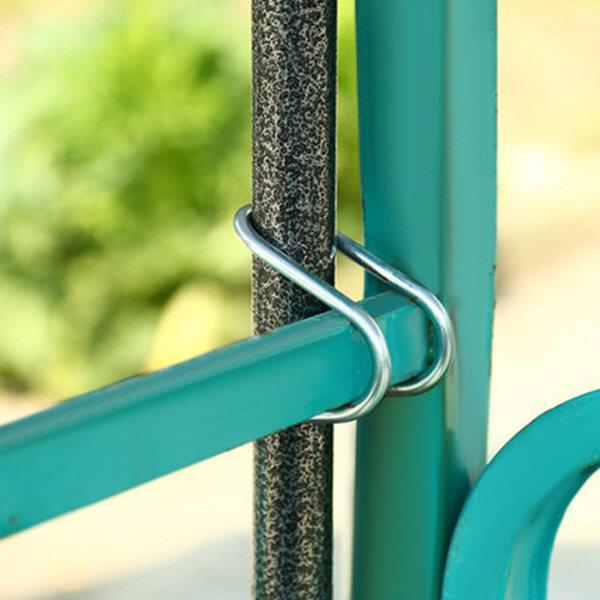 Outdoor Patio Portable Durable Garden Courtyard Anti Shake Metal Fixing For Balcony Railing Easy Install Umbrella Holder Clip