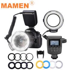 Bộ đèn chớp máy ảnh DSLR mamen RF-550D, gồm 48 đèn Led Macro hình tròn với 8 vòng chuyển đổi cho máy Nikon, Canon, Sony, Pentax, Panasonic