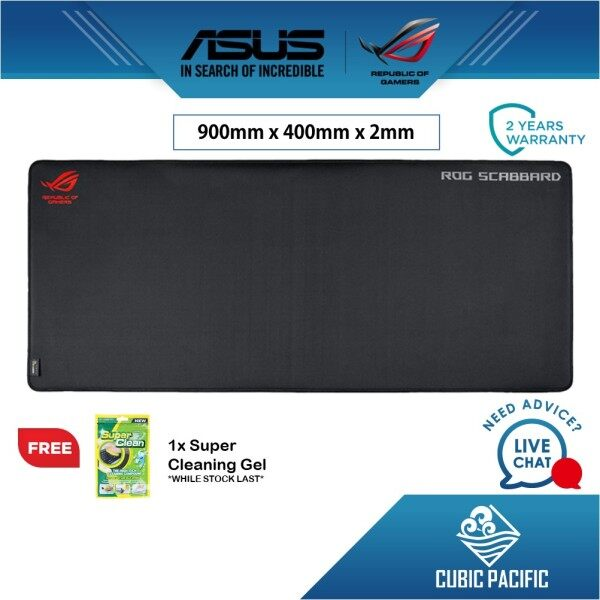 ASUS ROG Scabbard II Extra-Large (XL) Extended NC08 Gaming Mousepad with Water, Oil and Dust Repellant, Anti-fray Slip-free Spill-resistant [Free Cleaning Gel] Malaysia