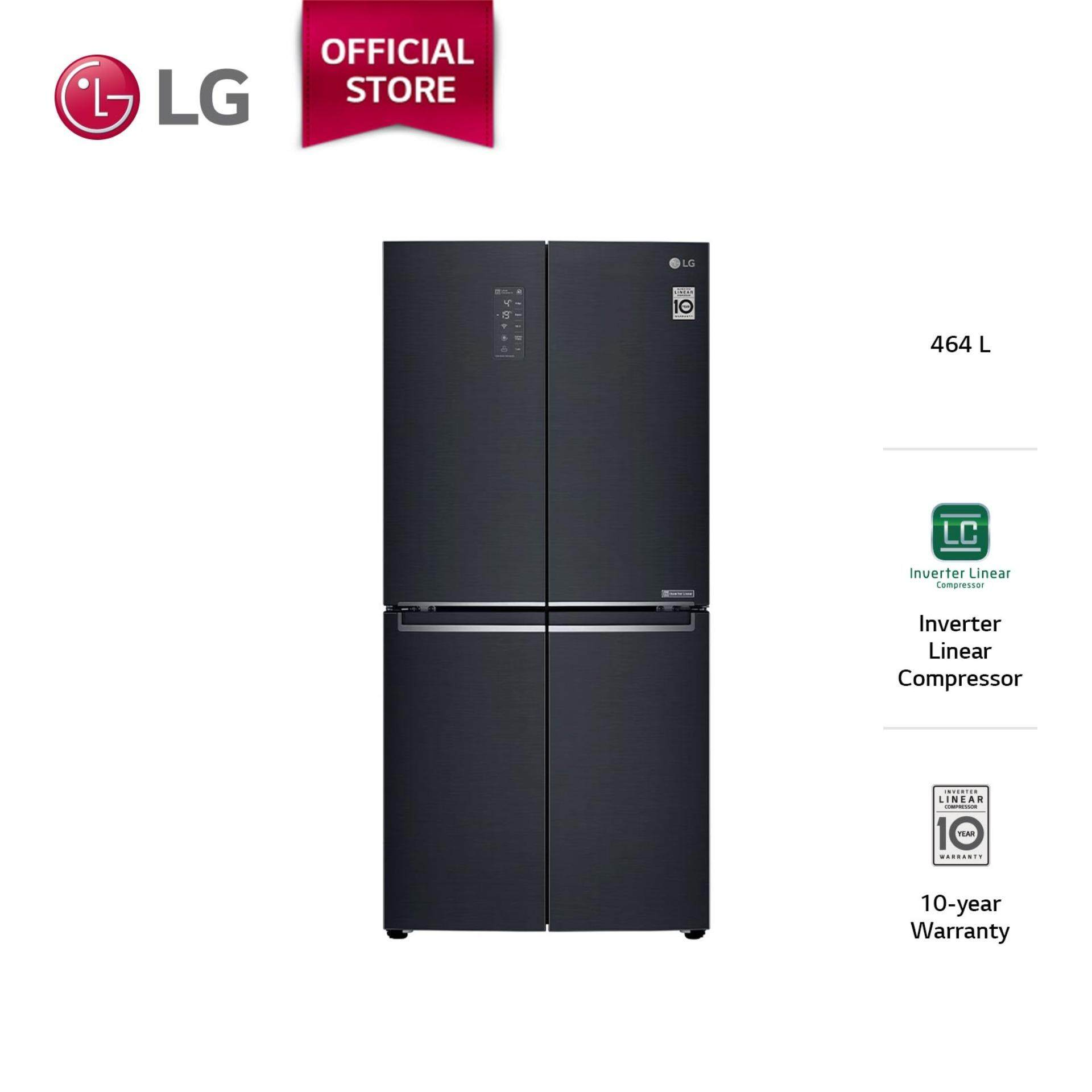LG 594L Matte Black Slim French Door Refrigerator GC-B22FTQPL