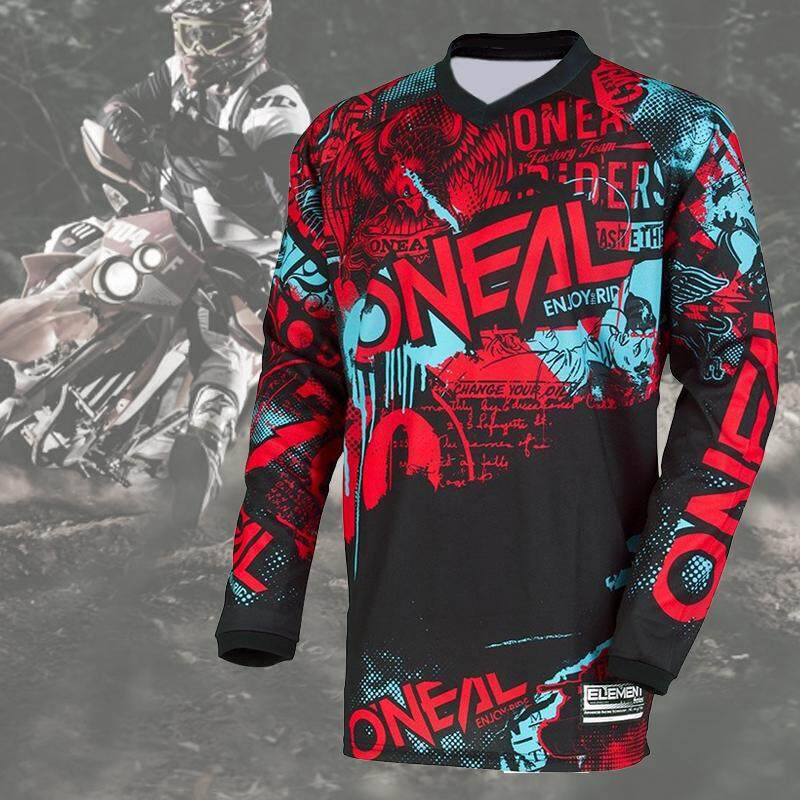 Men s Long Sleeve Motorcycle Jersey BMX MTB MX Motocross Racewear Enduro  Jersey 8d77ecdb7
