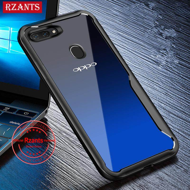 Rzants untuk casing hp OPPO A3S, Realme C1 Sarung Ponsel Hibrida Pelindung 【Four Corner】clear Casing Cover Ultra Tipis Casing Matte