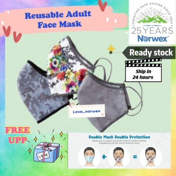 📢6.25 Sales🛒 Norwex Reusable Adults Face Mask Ready Stock