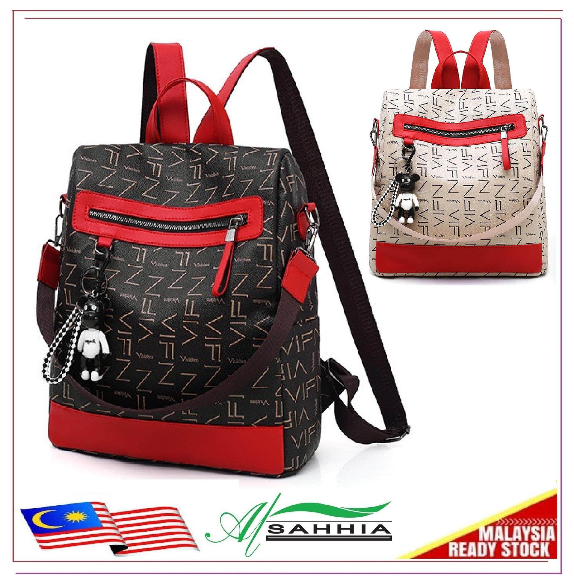 24e57a7429 Al Sahhia Ready Stock VIFN Anti-theft Waterproof Teenage Backpack Travel  Casual Bag