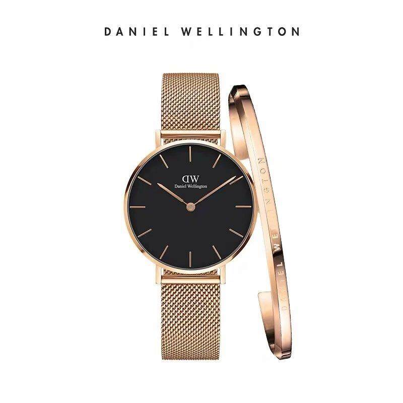 DW Watch CLASSIC PETITE -28MM Rose Goid surface Melrose Bracelet Gift Set ready stock Malaysia