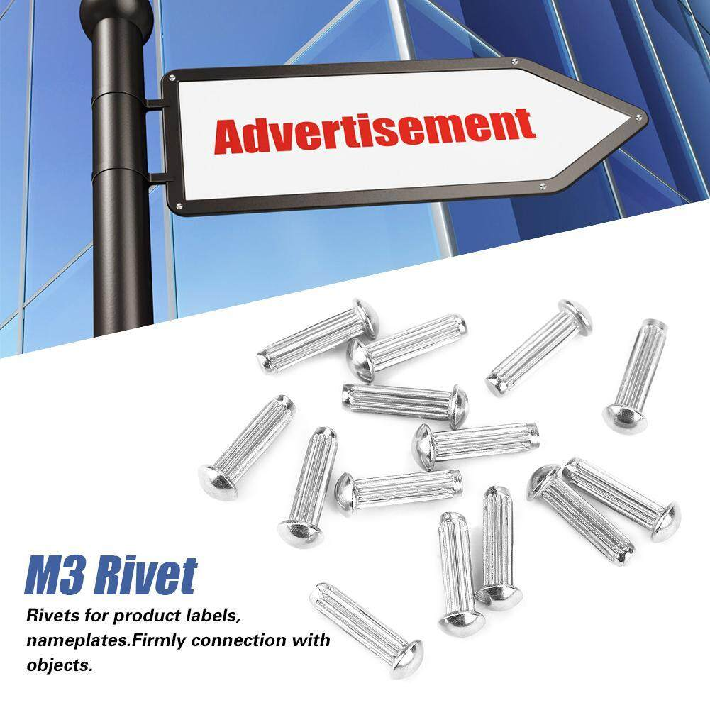 【Promotions】120pcs M3 Stainless Steel Round Head Knurled Shank Solid Rivets Assortment Set