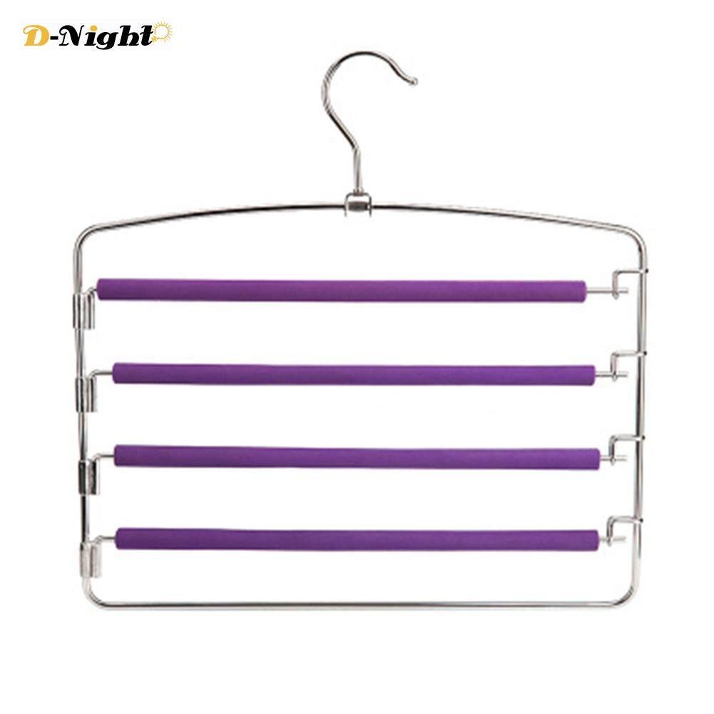 D-Night Household Clothes Hangers Multi-layers Anti-slip Foam Padded Pants Hangers Closet Storage Organizer