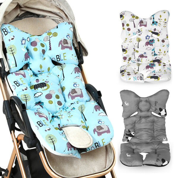Seat Pad Mat Cushion Cotton Baby Stroller Pram Pushchair Liner Cover-BLUE Singapore