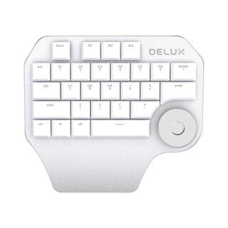 Bàn Phím Một Tay Lập Trình Delux T11 Núm Đa Năng, Tương Thích Với Mac OS Windows & Phần Mềm Thiết Kế Chính Thống thumbnail