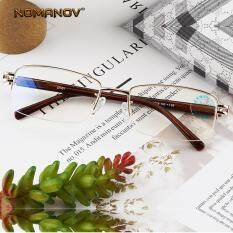 Kính Đọc Sách NOMANOV Siêu Nhẹ Cho Nam Nữ, Kính Đọc Sách Nửa Vành Thời Trang Công Sở Chống Ánh Sáng Màu Xanh Lam + 0.75 + 1.5 + 1.75 + 2.25 + 2.5 + 2.75 Đến + 4