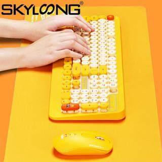 Skyloong K68 Bộ Chuột Bàn Phím Không Dây Quang USB Di Động Chống Nước Hoạt Hình, Cho Máy Tính Xách Tay thumbnail