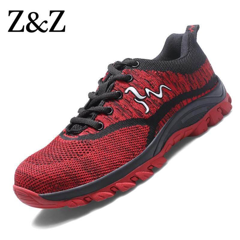 Z & Z รองเท้าเพื่อความปลอดภัยผู้ชายเหล็กรองเท้าสำหรับทำงานรองเท้าผ้าใบรองเท้าปีนเขาผู้หญิงจัดส่งฟรี By Z&z Outdoor Official Store.