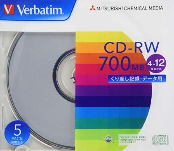 Verbatim Verbatim repeatedly for recording CD-RW 700MB 5 sheets silver disc 4-12 speed SW80EU5V1