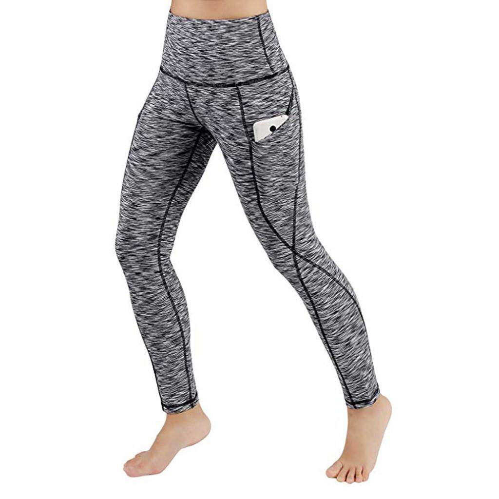 3a9aa677476e5 FashionDoor Women Workout Out Pocket Leggings Fitness Sports Gym Running  Yoga Athletic Pants