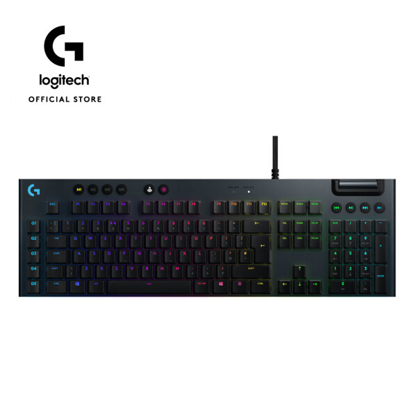 Logitech G813 LIGHTSYNC RGB Mechanical Gaming Keyboard with Low Profile GL Tactile key switch, 5 programmable G-keys,USB Passthrough, dedicated media control 920-008995 Malaysia