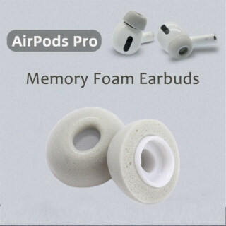 1 3 Pair Memory Foam Ear Mẹo Màu Xám Memory Foam Thay Thế Miếng Đệm Tai Tay Áo Ear Mẹo Earbuds Bìa Nút Tai Cap Cho Apple Airpods Pro thumbnail