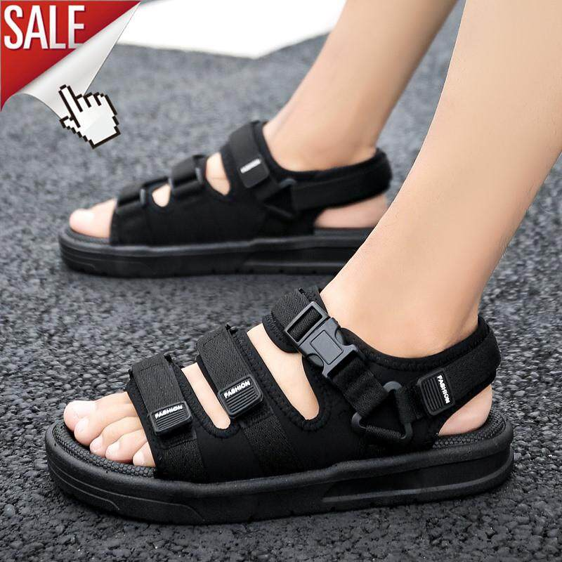 eb58af7b1d6 LAOCHRA Summer Sandals Men Fashion Korean Trend Beach Sandals Big Size  39-45 Non Slip