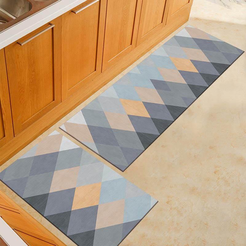 2 in 1 Anti-slip Bathroom Kitchen Floor Mat Dinding Room Carpet Washable Bath Rugs Water-absorption 40x60CM 40x120CM