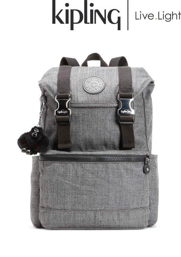 KIPLING Experience S Cotton Grey - Small Backpack  Ladies Casual Sport  Travel Everyday Lightweight Backpack 9485252e2b