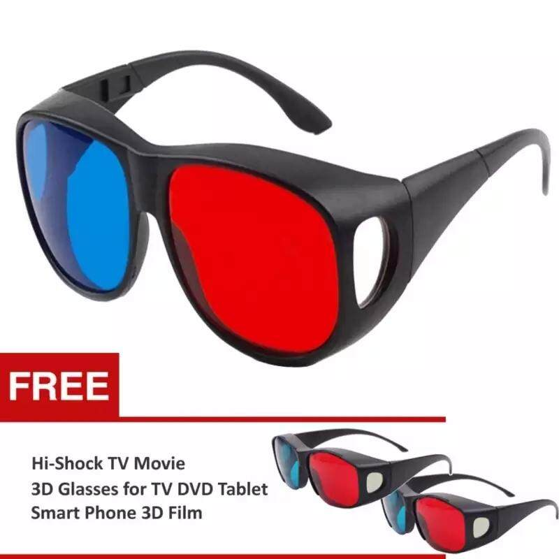 4d650b29f9 Vigo 3 pcs 63mmx36mm Universal 3D Glasses Anaglyph Glasses Red and Blue  Lenses Wrap TV Video