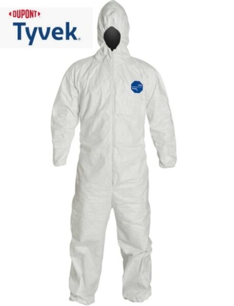 DuPont™ Tyvek® 400//Disposable PPE XL (COVIX SUIT)/ HAZMAT Suit -XL