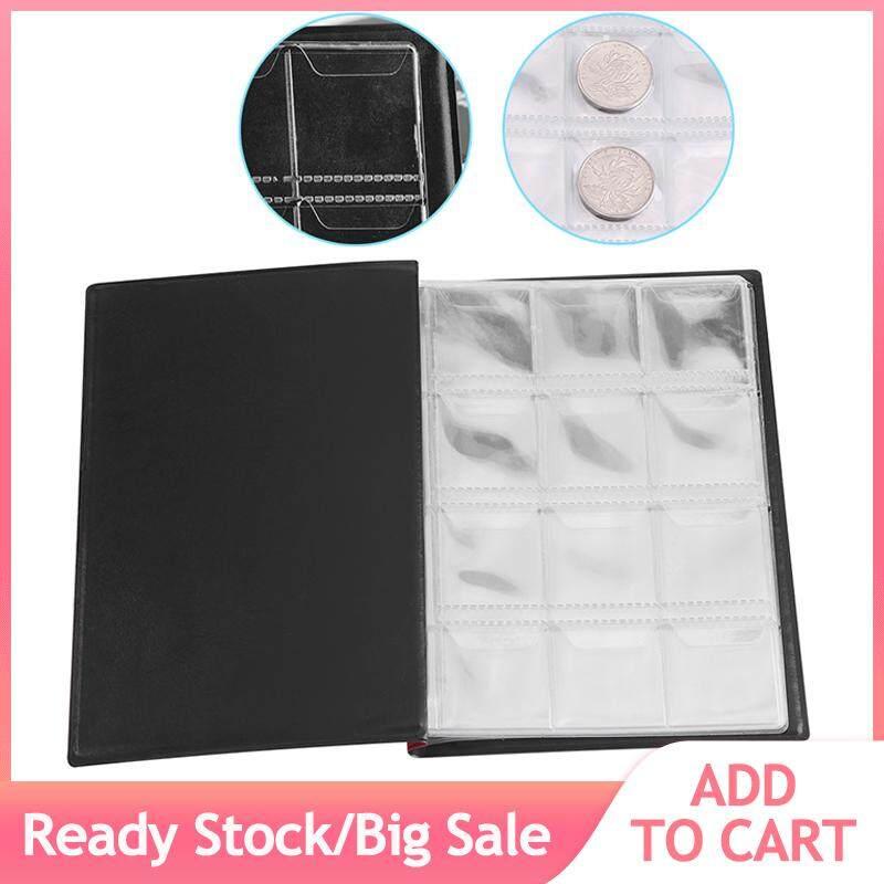 New 120 Pockets 10 Pages World Coin Storage Folder Album Money Collecting Holder Book Black
