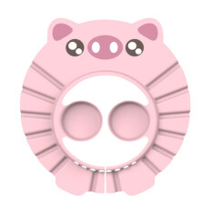 Ladotoy Phim Hoạt Hình Lợn Trẻ Em Mũ Tắm Có Thể Điều Chỉnh Bé Dầu Gội Mũ Trẻ Sơ Sinh Kids Bath Eye Ear Mũ Bảo Vệ