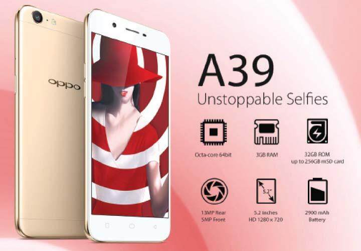 Unstoppable Selfies OPPO A39 (3GB+32GB)