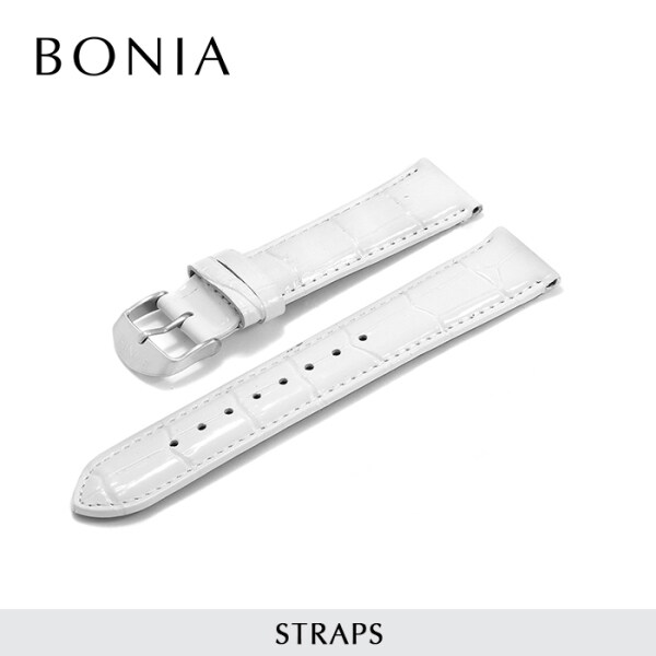 Bonia Leather Strap - 18mm - For Women & Men Watch - (White, Brown, Purple. Black, Red) Malaysia