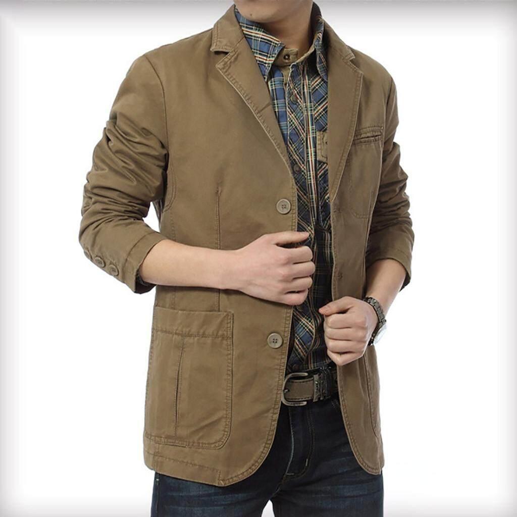 Áo dài tay NIK kiểu mới màu trơn giản dị cho nam áo khoác mỏng vừa vặn phong cách 3 màu kaki màu xanh quân đội và màu đen - INTL