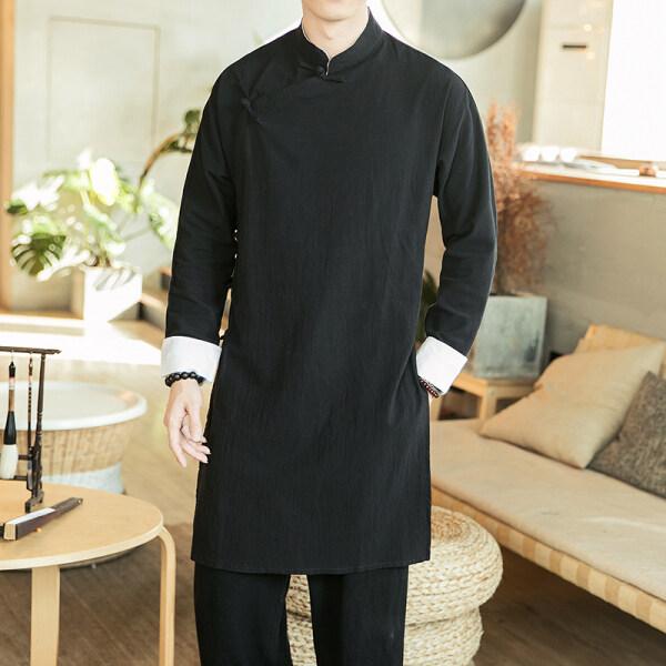 Đồ Cổ Trang Trung Quốc Nữ Truyền Thống Cộng Hòa Của Trung Quốc Quần Áo Của Nam Giới Dài Gown Trung Quốc Đĩa Nút Hanfu Giáo Dân Của Quần Áo Trang Phục Cổ Trang Phục Phù Rể Ăn Mặc Gown Hiệu Suất Gown Hán Phục Cách Tân