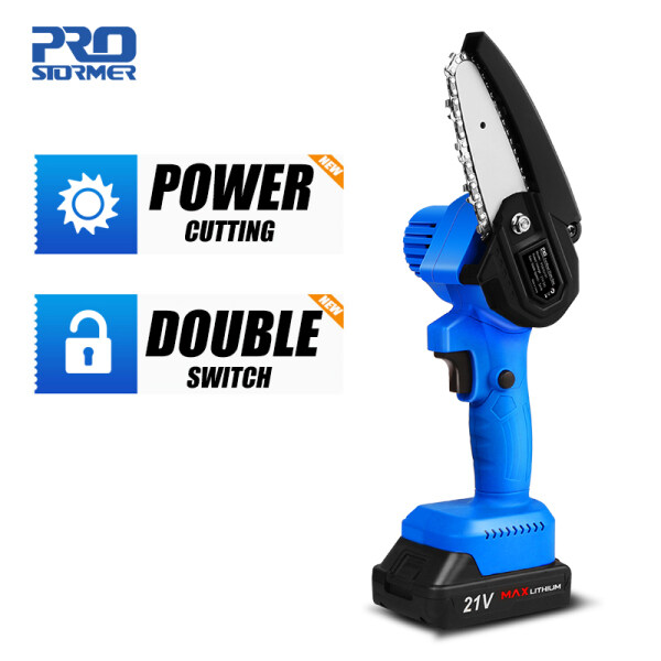 21v electric chainsaw, 2000 mAh battery, fast cut for cutting wood; bamboo by PROSTORMER