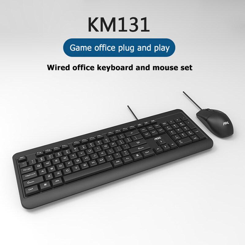 AOC KM131 USB Wired 104 Keys Keyboard 3 Buttons 1000 DPI Mouse Combos Set Singapore