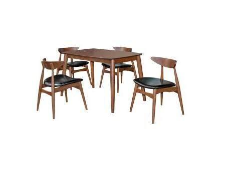 PAVILLION 1 +4 DINING SET / BREAKFAST SET / DINNER SET / DINING ROOM SET (L120MM X W750MM X H740MM)