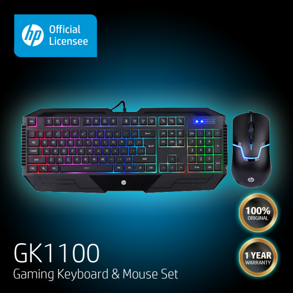 HP GK1100 High Performance Gaming Keyboard and Mouse Combo (One Year Local Warranty) Malaysia