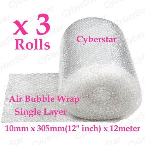 Bubble Wrap 10mm x 305mm (12 inch) x 12meter x 3 rolls