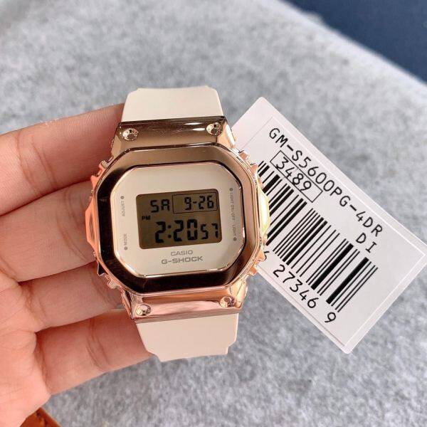 Casio_G_Shock Rose Gold & Silver Superior DW5600 Steel Dial Limited Time Offer With Free Perfume Gift Box Malaysia
