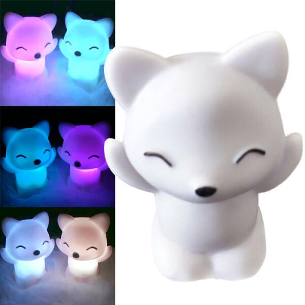 Đèn Ngủ LED Hình Con Cáo 7 Màu Thay Đổi Đáng Yêu Đèn Tiết Kiệm Năng Lượng Trang Trí