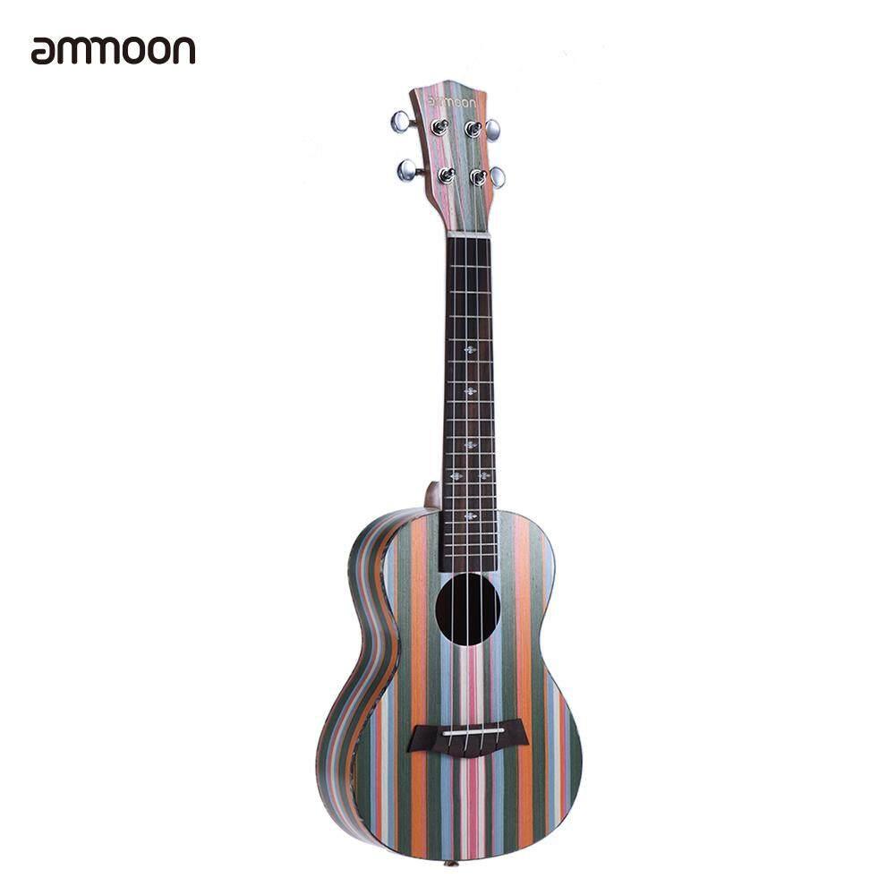 สี 24 Acoustic อูคูเลเล่เสียงโซปราโนอูคูเลเล่อูคูไม้ 18 Frets 4 Strings Okoume คอเครื่องดีดไม้ชิงชัน String Instrument ของขวัญที่มีเสียงดนตรี By Haitao.
