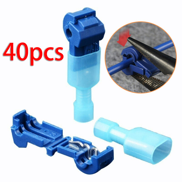 Gracekarin 40Pcs Ant Clip Quick Cable Connector Wire Terminal Crimp Connector