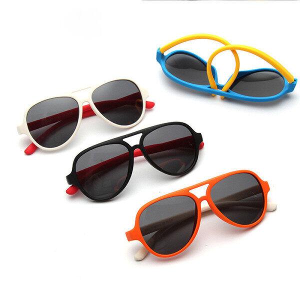 Mua Đáng Yêu Trẻ Em Phân Cực Kính Mát Hàng Không UV400 Silicone Khung Kính Trẻ Em Trẻ Em Pilot Sun Glasses Ngoài Trời Shades Eyewear Cô Gái Chàng Trai